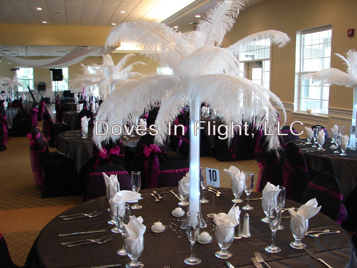 Feather ostrich diy wedding centerpieces car interior design