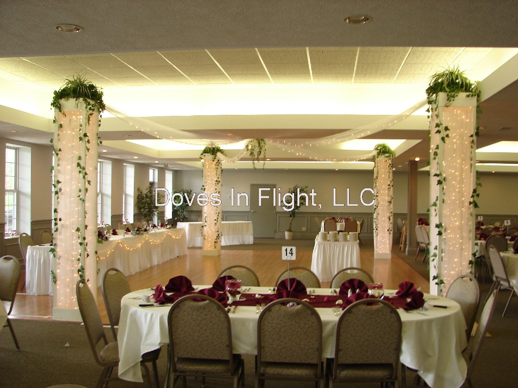 Chair covers of lansing columns and backdrops for Floor pillars
